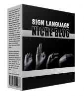 New Sign Language Flipping Niche Blog Private Label Rights