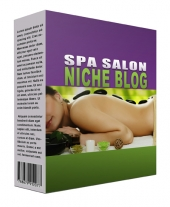 New Spa Salon Flipping Niche Blog Private Label Rights