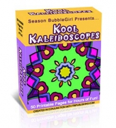Kool Kaleidescopes Coloring Book Private Label Rights