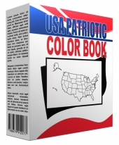 USA Patriotic Printables Coloring Book Private Label Rights
