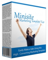 Minisite Marketing Template V42 Private Label Rights