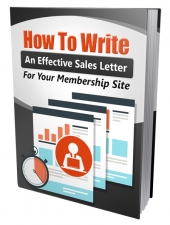 Write An Effective Membership Sales Letter Private Label Rights