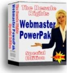 Webmaster PowerPak : Special Edition Private Label Rights