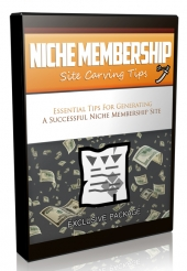 Niche Membership Site Carving Tips Video Upgrade Private Label Rights