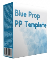 Blue Prop Multipurpose Powerpoint Template Private Label Rights