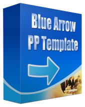 Blue Arrow Multipurpose Powerpoint Template Private Label Rights