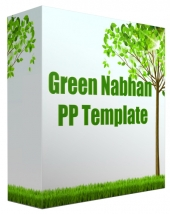 Green Nabhan Multipurpose Powerpoint Template Private Label Rights