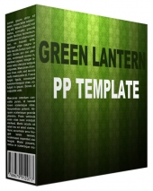 Green Lantern Multipurpose Powerpoint Template Private Label Rights