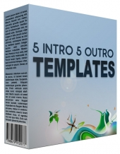 5 Intro and 5 Outro Powerpoint Templates Private Label Rights
