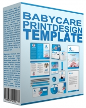 Baby Care Print Design Template Private Label Rights