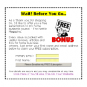 Exit Message Template Wizard Private Label Rights