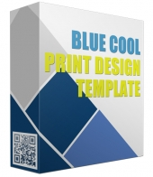 Blue Cool Print Design Template Private Label Rights