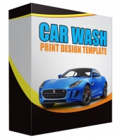 Car Wash Print Design Template Private Label Rights