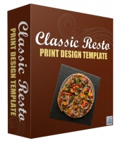 Classic Resto Print Design Template Private Label Rights
