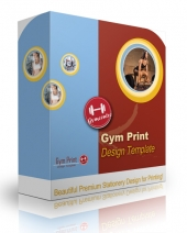 Gym Print Design Template Private Label Rights