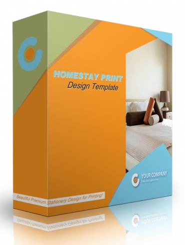 Homestay Print Design Template
