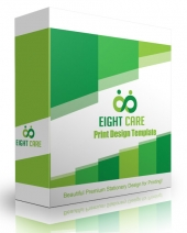 Eight Care Print Design Template Private Label Rights