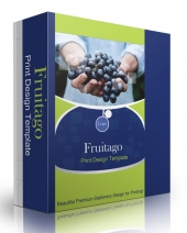 Fruitago Print Design Template Private Label Rights