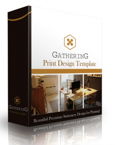Gathering Print Design Template
