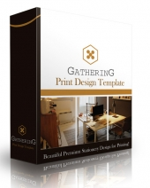 Gathering Print Design Template Private Label Rights