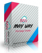 May Way Print Design Template Private Label Rights