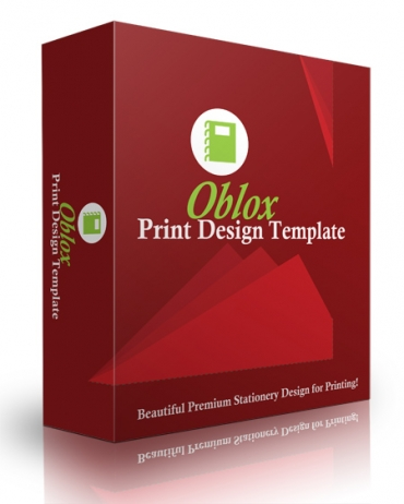 Oblox Print Design Template