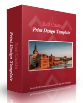 Red Castle Print Design Template Private Label Rights