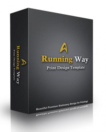 Running Way Print Design Template