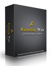 Running Way Print Design Template Private Label Rights