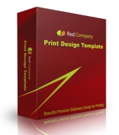 Red Company Print Design Template Private Label Rights