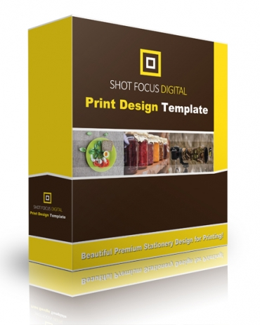 Shot Focus Print Design Template