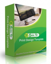 Spin It Print Design Template Private Label Rights