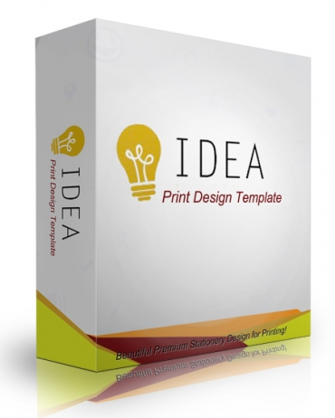 Idea Print Design Template
