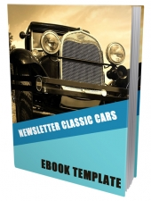 Classic Cars Ebook Template Private Label Rights