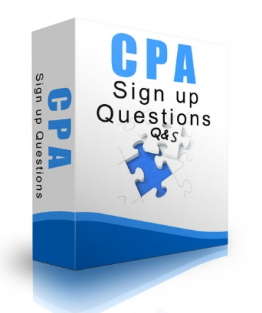 CPA Signup Questions
