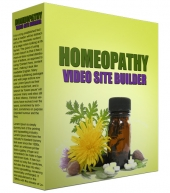 Homeopathy Video Site Builder Private Label Rights