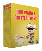 Dog Walker Critter Toonz Private Label Rights
