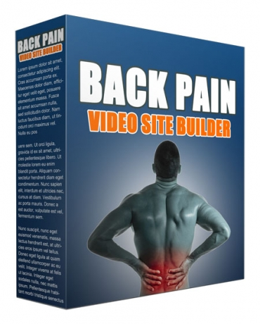 Back Pain Video Site Builder Software