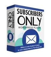 Subscribers Only WP Plugin Private Label Rights