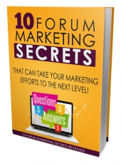 Forum Marketing Mastery 101 Private Label Rights