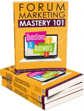 Forum Marketing Mastery 101 - Upsell Private Label Rights