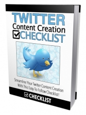 Twitter Content Creation Checklist Private Label Rights