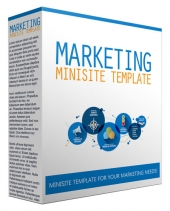 Marketing Minisite Template May 2017 Edition Private Label Rights