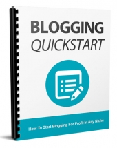 Blogging Quickstart Private Label Rights