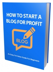 How To Start a Blog For Profit Private Label Rights