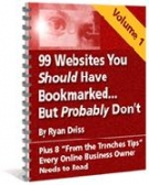 99 Websites You Should Have Bookmarked : Volume 1 Private Label Rights