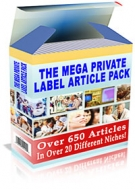 The Mega Private Label Article Pack Private Label Rights
