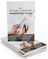 30 Days Content Marketing Plan - Private Label Rights