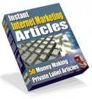Instant Internet Marketing Articles Private Label Rights