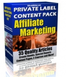 Private Label Article Pack : Affiliate Marketing Private Label Rights